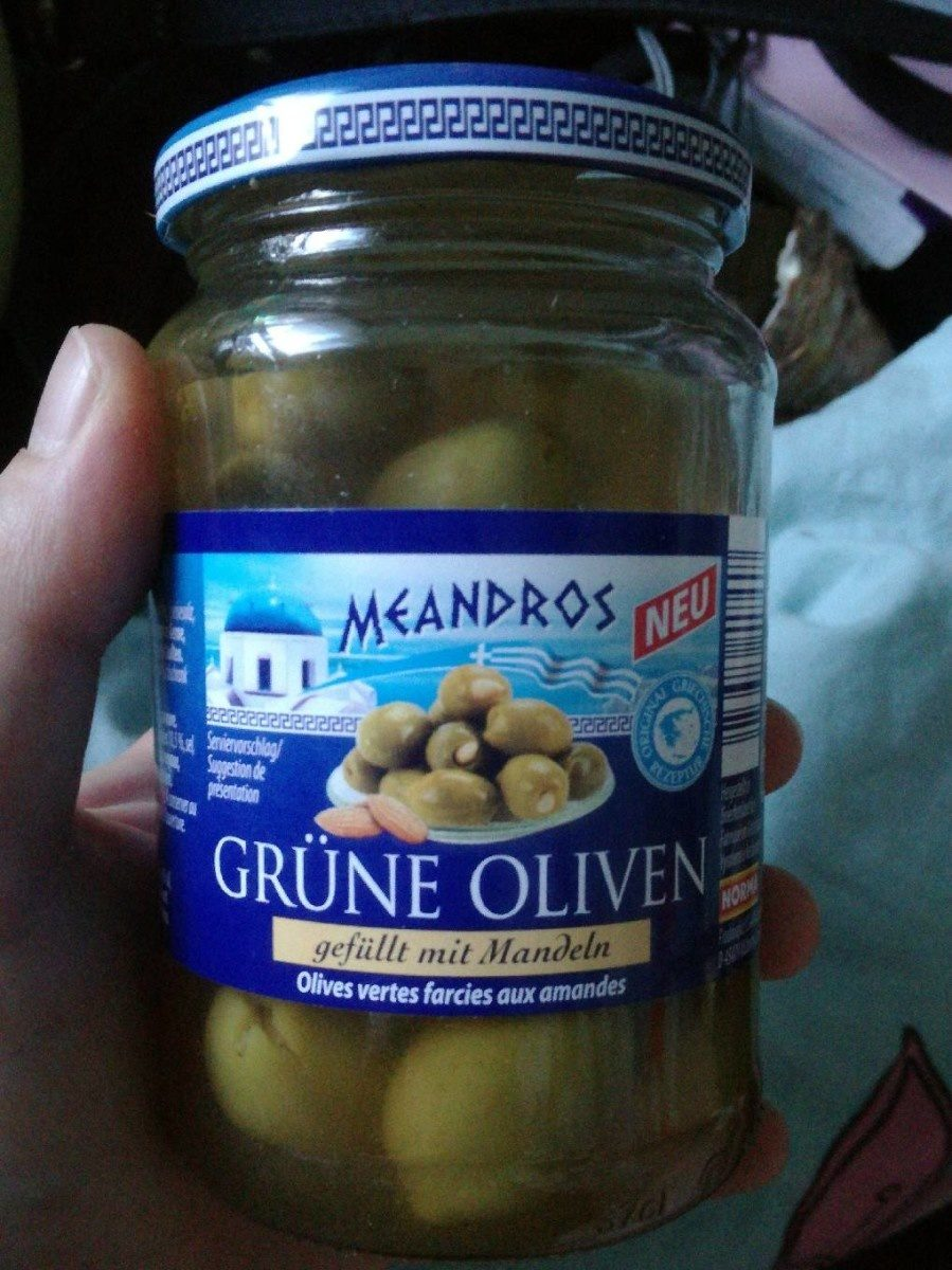 Olives vertes farcies aux amandes - Product