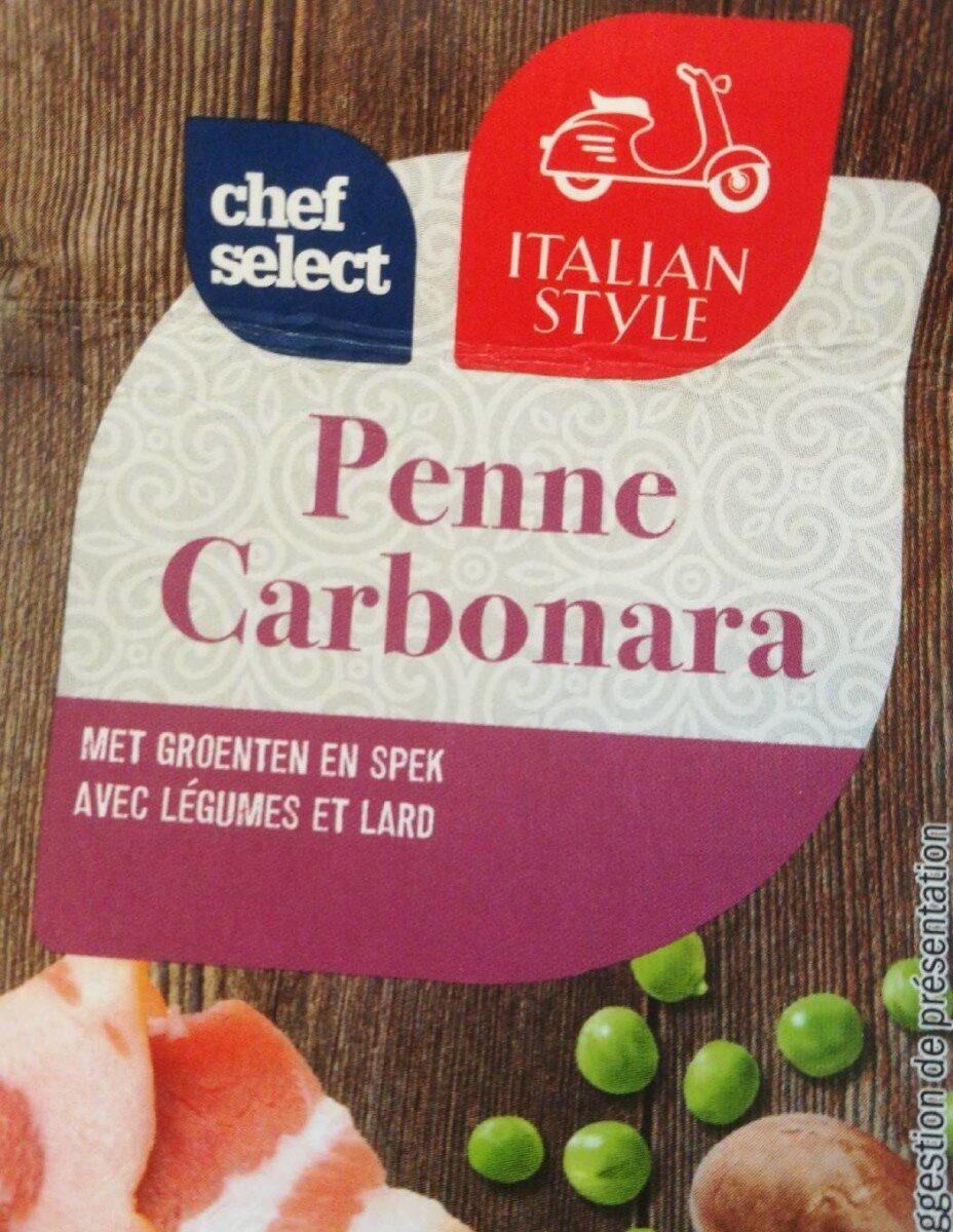 Penne carbonara avec légumes et lard - Product - fr