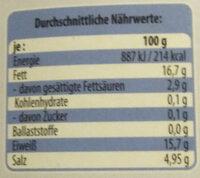 Edle Matjesfilets - Nutrition facts