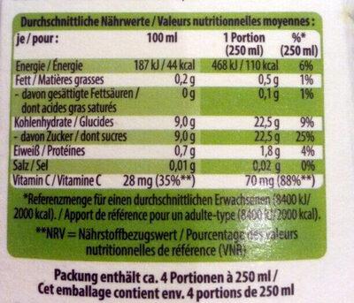 Bio-Saft Orange - Voedingswaarden - de