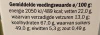 Hagelmix - Voedingswaarden - nl