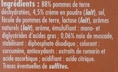 Saveur d'Autrefois Relevée à la Noix de Muscade - Ingrediënten - fr
