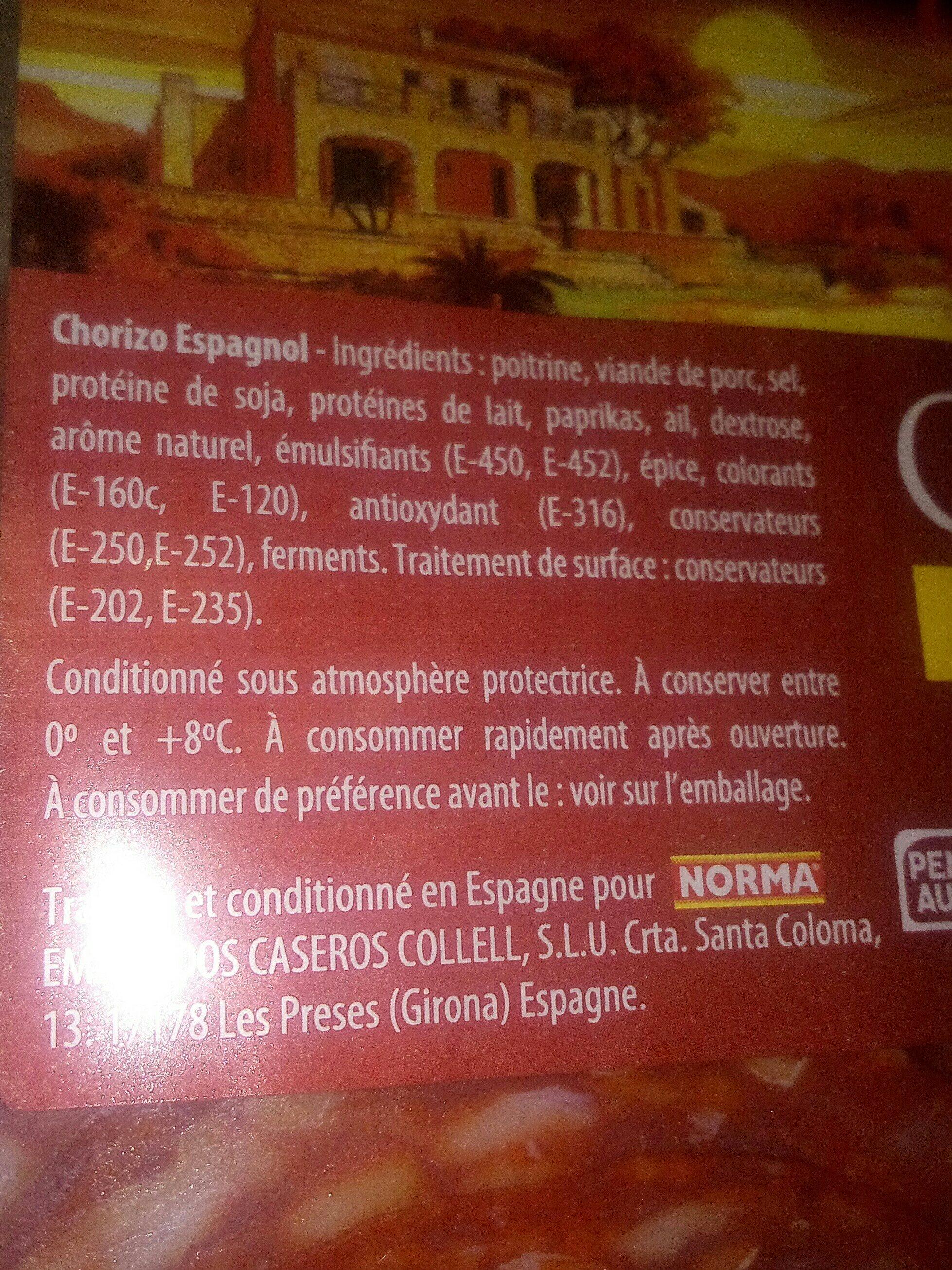 Chorizo - Ingrédients - fr