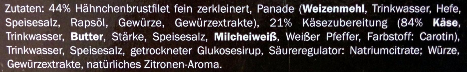 Hähnchen Nuggets Käse - Ingrédients - de
