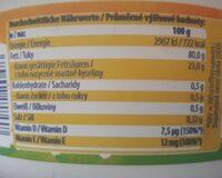 Pflanzen Margarine - Valori nutrizionali - de