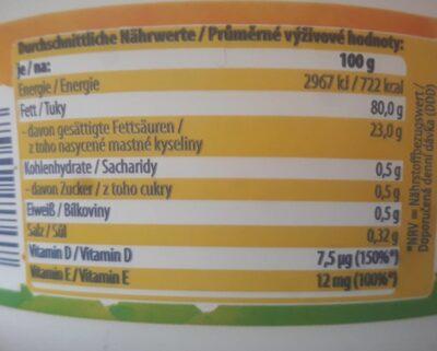 Pflanzen Margarine - Valori nutrizionali