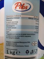 Pilos извара - Хранителна информация - bg