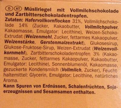 Müsli Riegel - Ingrediënten - de