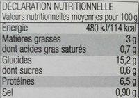 Poule au riz - Nutrition facts