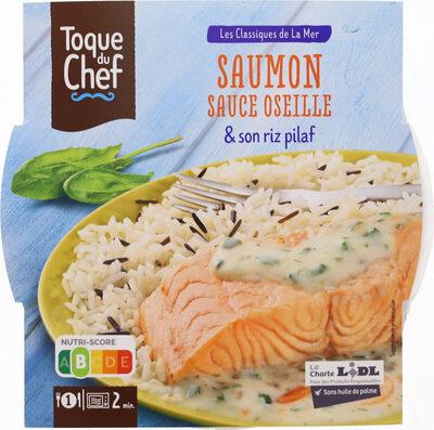 Saumon sauce oseille & son riz pilaf - Produit - fr