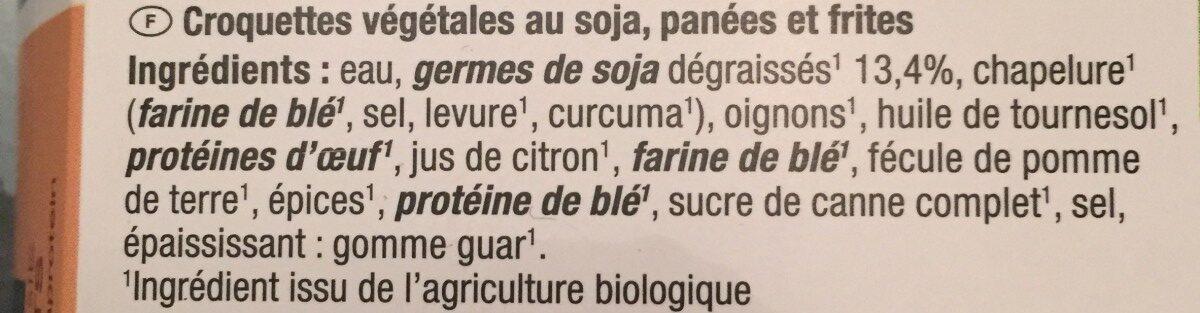 Nuggets auf basis vn sojaprotein - Ingrédients - fr