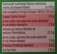 Mild heat thai noodles with satay sauce, mild - Información nutricional - es