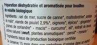 Bouillon de volaille bio - Ingrédients