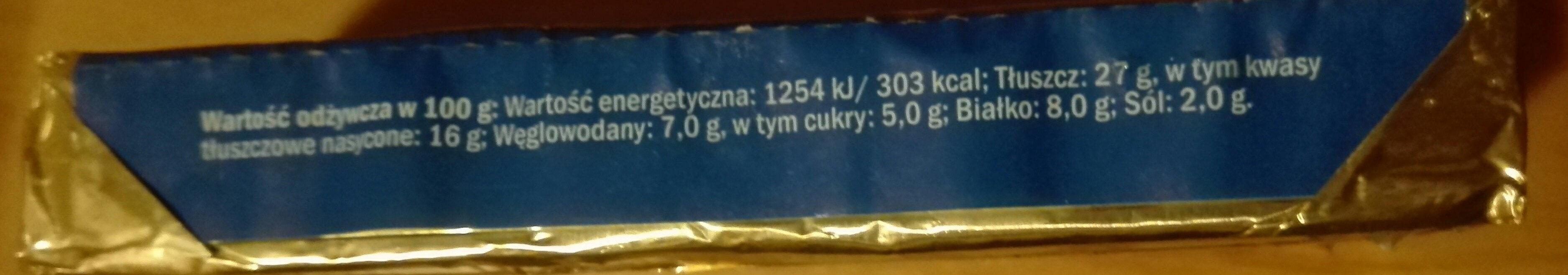 ser topiony kremowy - Wartości odżywcze