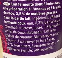 Pineapple & Coconut Lassi - - Ingrédients - fr
