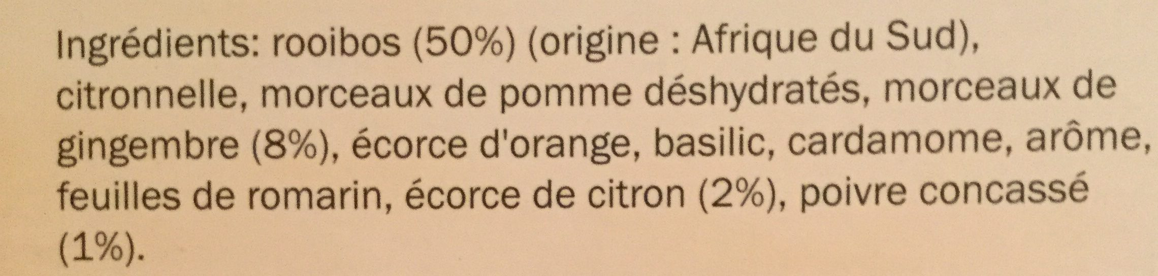 Lord Nelson Rooibos, Zitrone Pfeffer - Ingredients