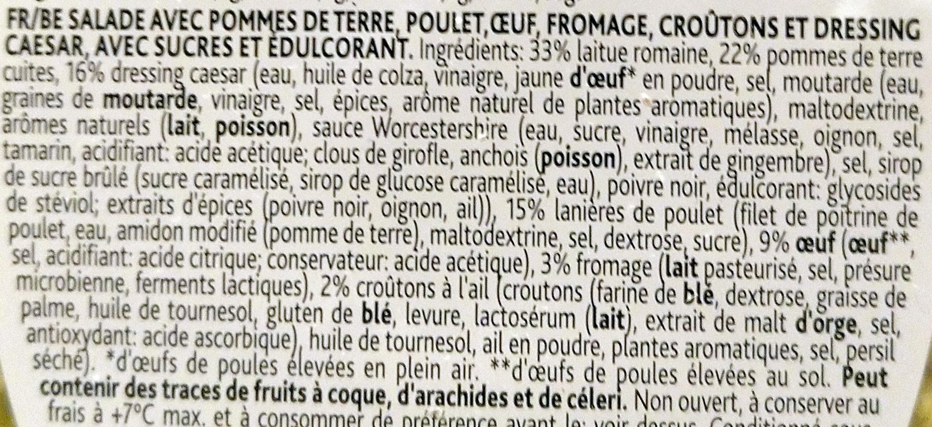 Caesar Salat, Gemischt - Ingrediënten - fr
