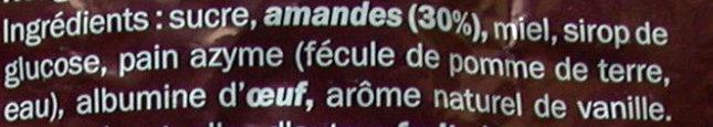 Nougat de Montélimar - Ingrédients - fr