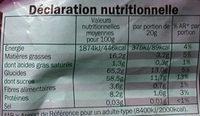 Nougat de Montélimar - Informations nutritionnelles - fr