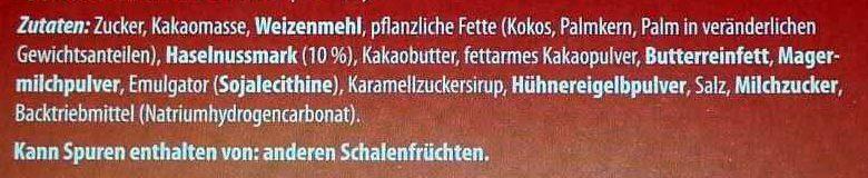 Schoko-Waffeln Zartbitter - Ingrédients - de