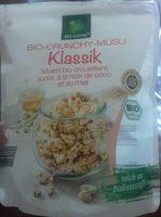 Muesli bio croustillant, sucré, à la noix de coco et au miel - Prodotto - fr
