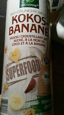 Bio crunchy muesli coco banane - Produit - fr