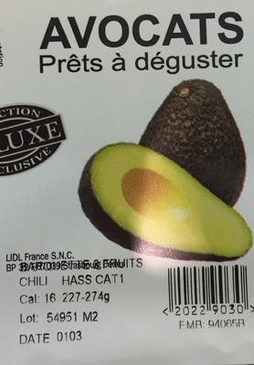 Avocats - Ingrediënten