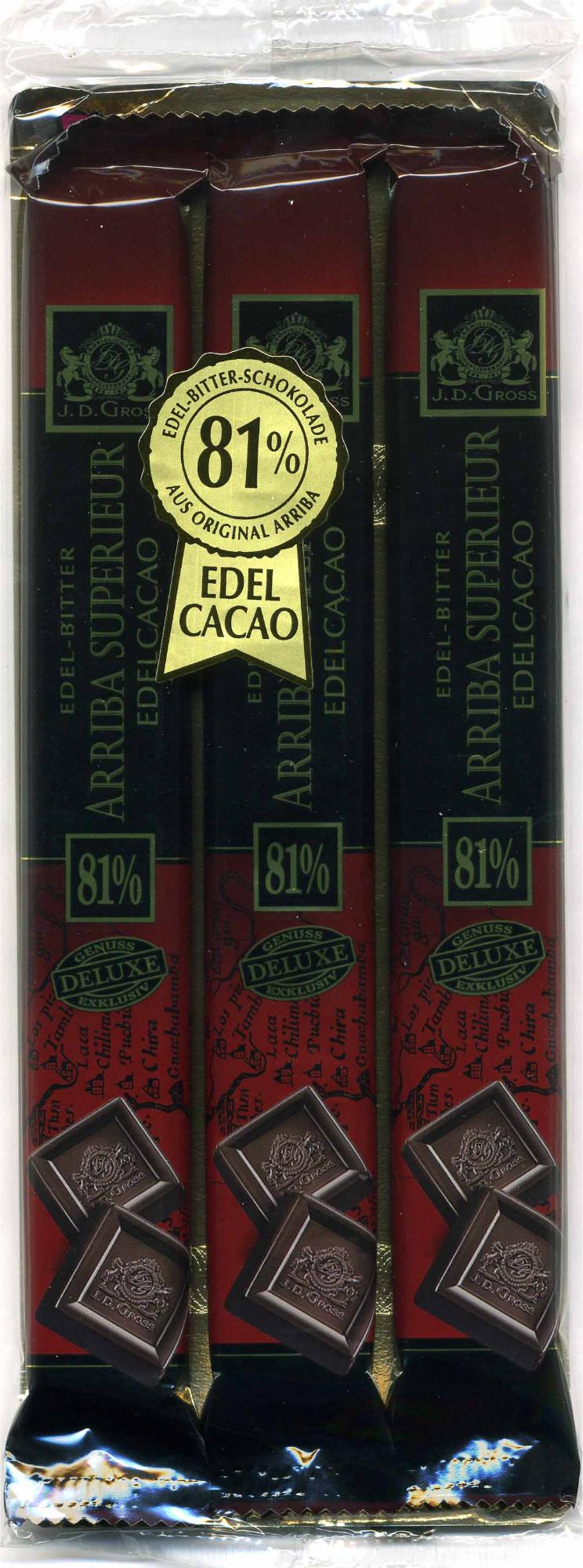 Edel-Bitter-Schokolade Arriba Superieur 81% Kakao - Producte - de