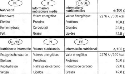 Edel-Bitter-Schokolade Arriba Superieur 81% Kakao - Informació nutricional - de