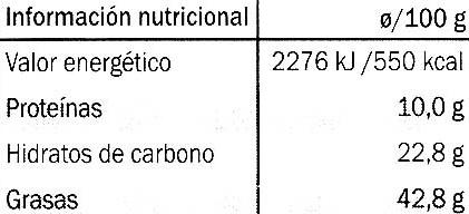 Edel-Bitter-Schokolade Arriba Superieur 81% Kakao - Información nutricional - es