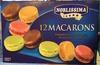 12 macarons Framboise, Chocolat, Pistache et Café - Produit