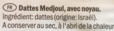 Dattes Medjoul - Ingredienti