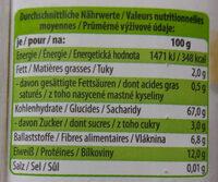 Spaghetti au blé complet bio - Nährwertangaben - de