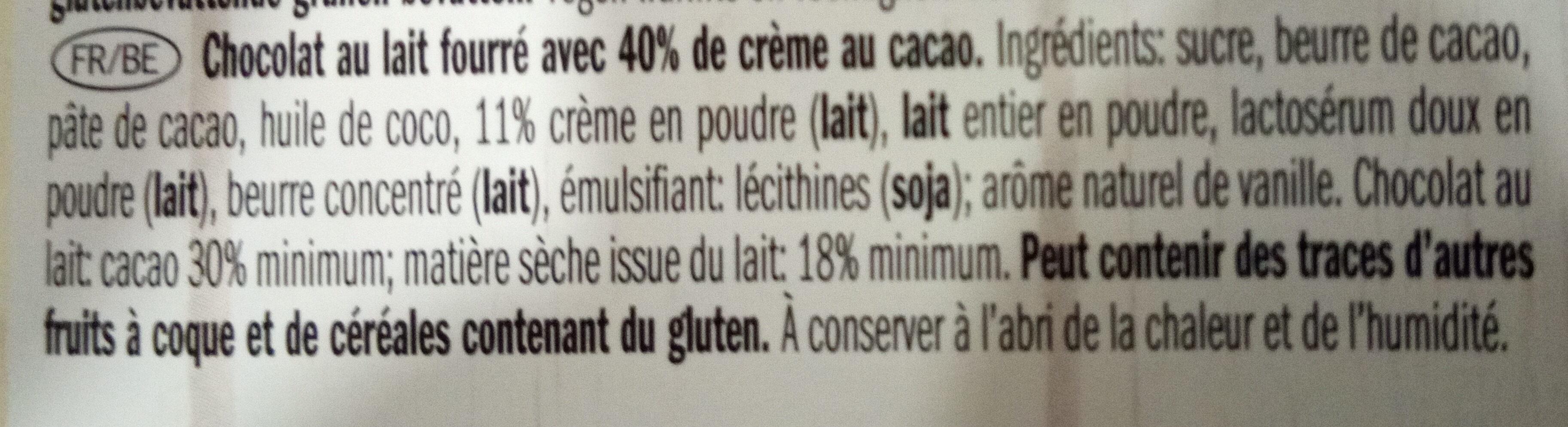 Vollmilchschokolade, Kakaocreme - Ingrediënten