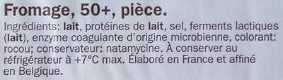 Fromage d'abbaye - Ingrediënten