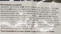 Mini-feuilletés - Ingrédients - fr