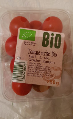 Tomates Cherry  Bio - Ingrediënten