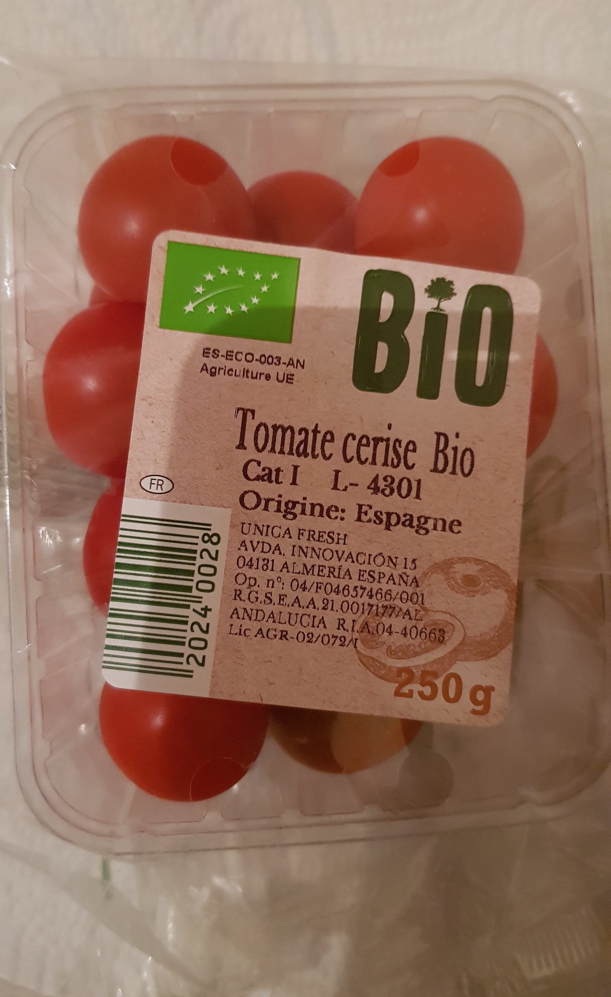 Tomates Cherry  Bio - Ingrédients