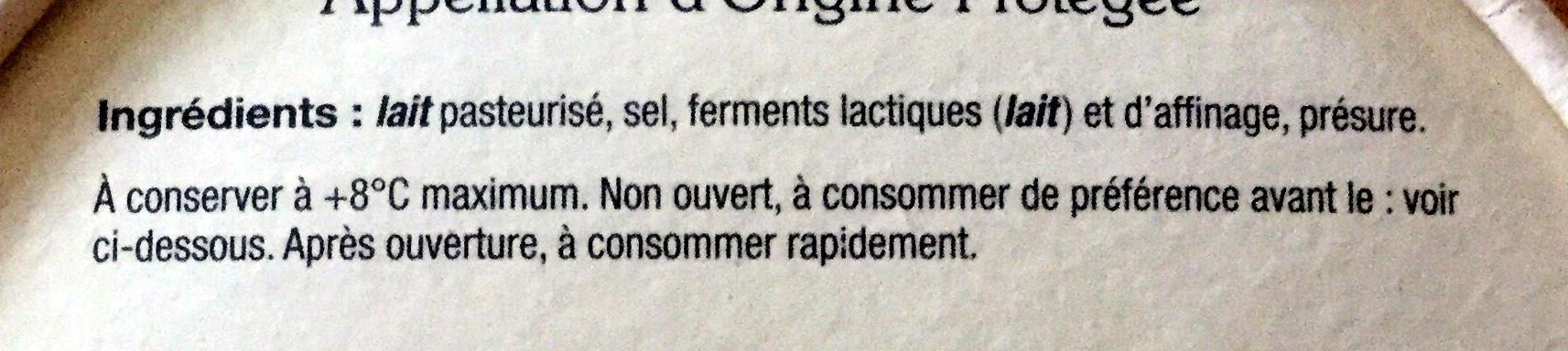 Munster-Geromé - Ingrédients - fr