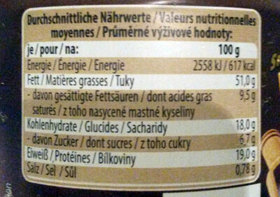Cashews geröstet und gesalzen - Informations nutritionnelles