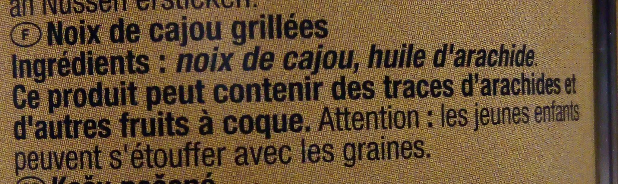 Noix de cajou grillées - Ingrédients - fr