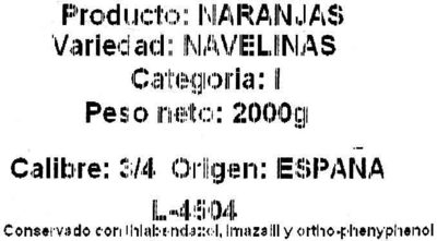 Naranjas - Ingredients