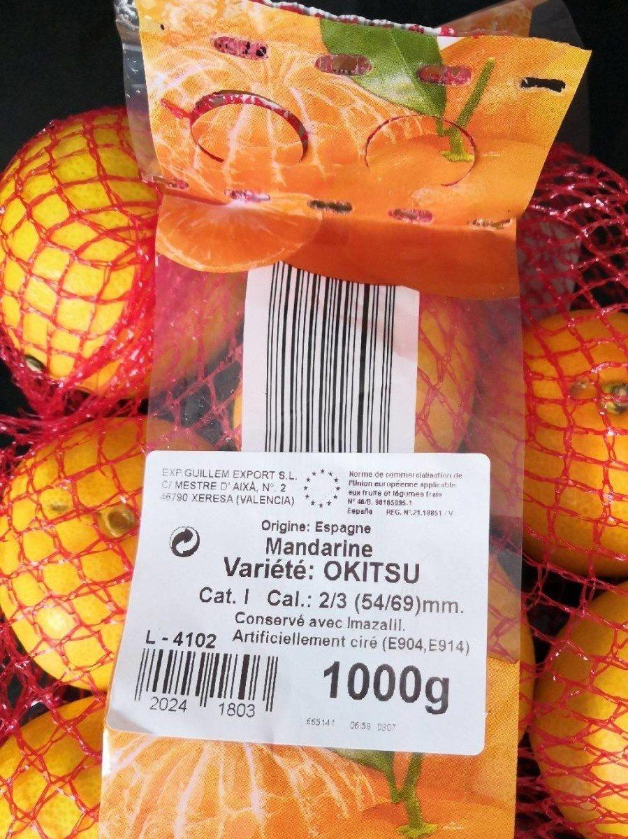 Mandarine - Produit