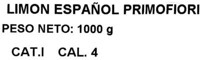 """Limones """"Aranda"""" - Ingredientes"""