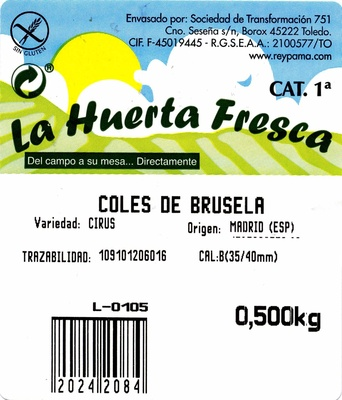 Coles de Bruselas - Ingredientes