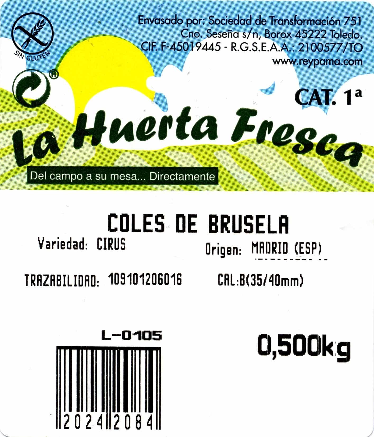 Coles de Bruselas - Ingredients
