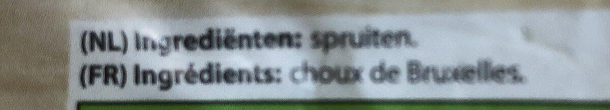 Choux de bruxelles spruiten - Ingrédients - fr
