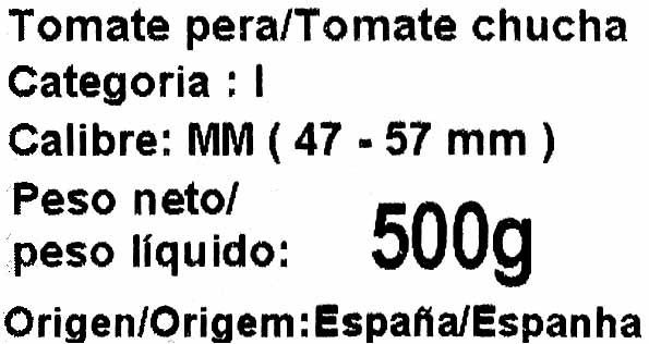 Tomate pera - Ingredients - es