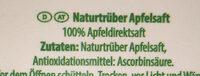 Apfel naturtrüb - Ingrédients - de