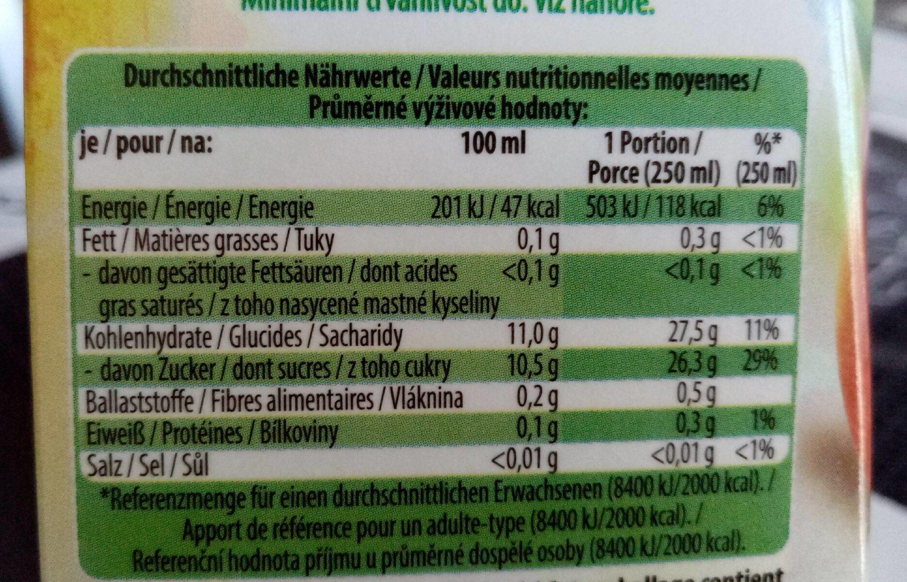Apfel naturtrüb - Informations nutritionnelles - fr